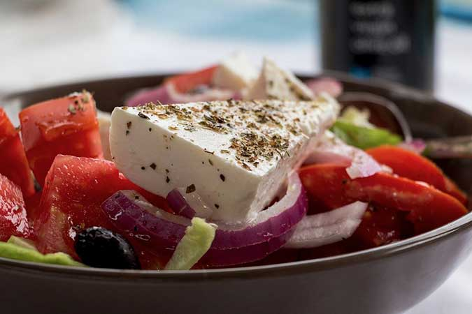 Dishes from Europe that happen to be vegetarian. Classic Greek Salad