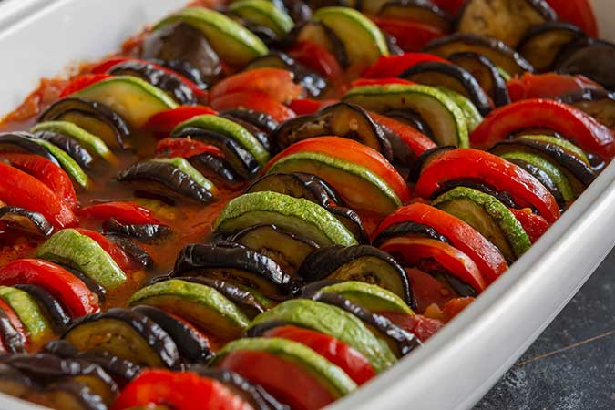 Dishes from Europe that happen to be vegetarian. Ratatouille - A vegan French classic.