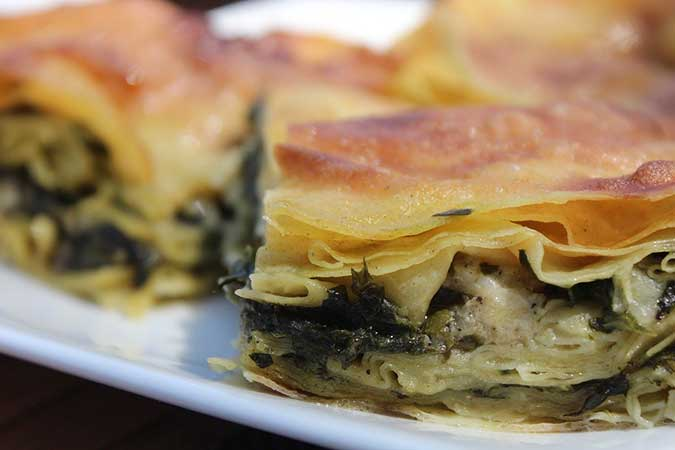 Burek or Börek - Traditional Balkan stuffed phyllo pastry