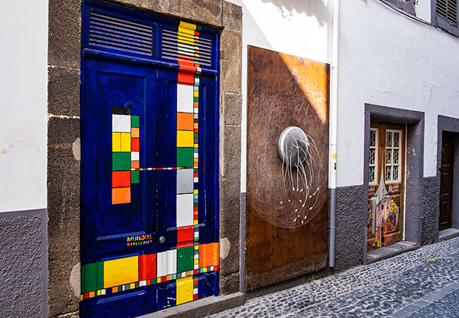 Funchal Old Town Painted Doors