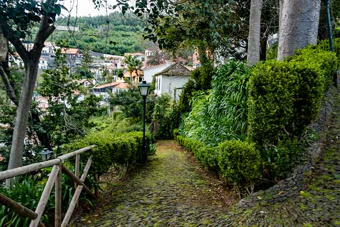 View over Monte Village on the way to Monte Palace Tropical Garden in Funchal
