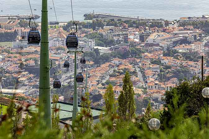 Monte Palace Tropical Garden in Funchal - Cable Car