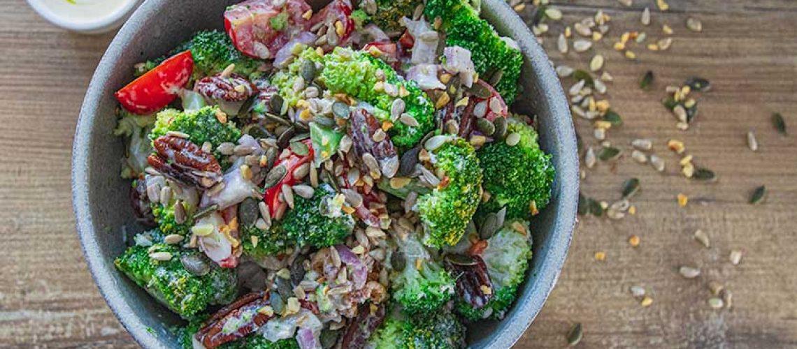 Vegetarian Keto Broccoli Salad